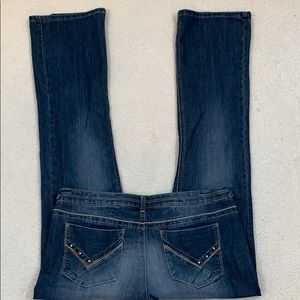Mossimo Boot Cut Embellished Jeans  Size 15